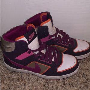 Nike high tops (purple, gold, orange, pink) size 7